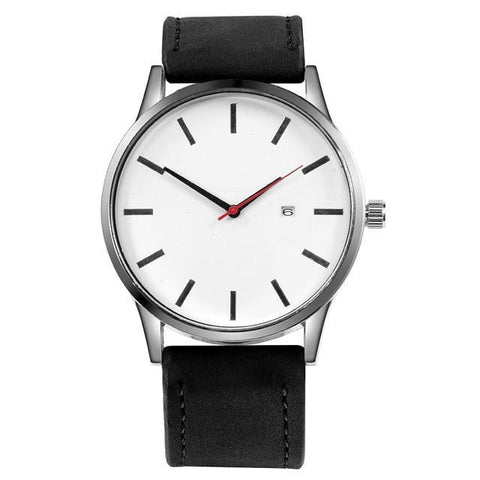 Men Leather Wrist Watch