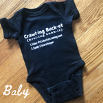 Crawling Bucket Onesie