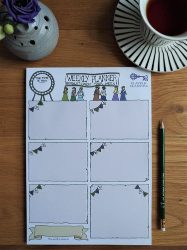 Time Is Now weekly planner pad
