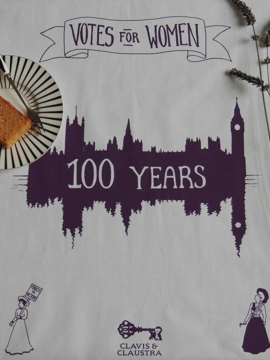 Suffragette Centenary tea towel