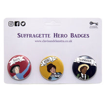 Load image into Gallery viewer, Suffragette Hero Badges