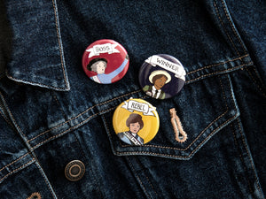 Suffragette Hero Badges