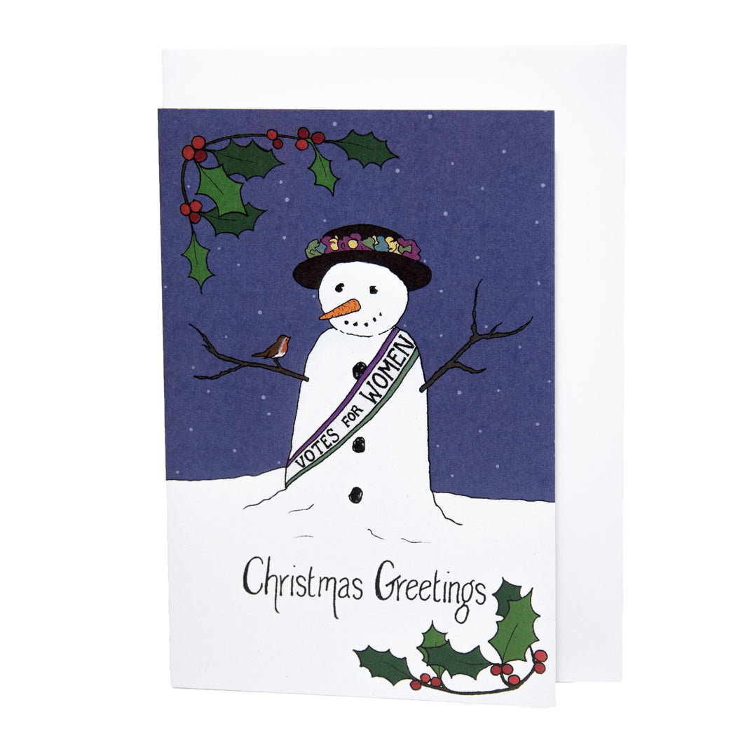 Snow Suffragette Christmas Card