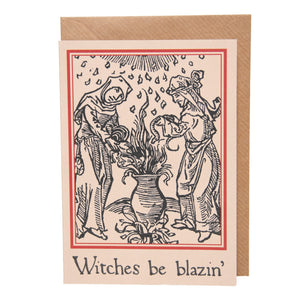 Witches Be Blazin' card