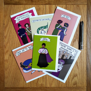 Suffragette Sisterhood card pack of 6