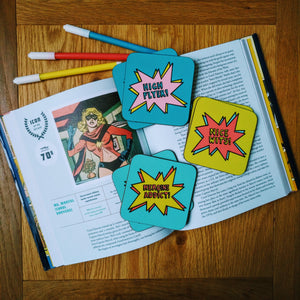 Comic Book Coaster set