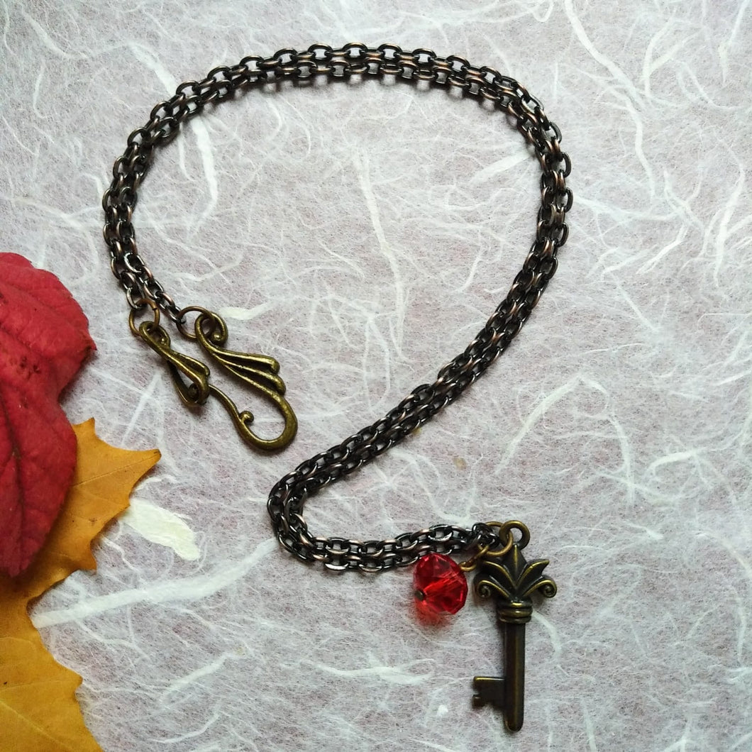 Liberty Scarlet-Key necklace