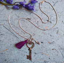 Load image into Gallery viewer, Liberty Violet-Key necklace