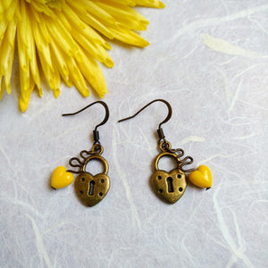 Liberty Yellow-Heart earrings