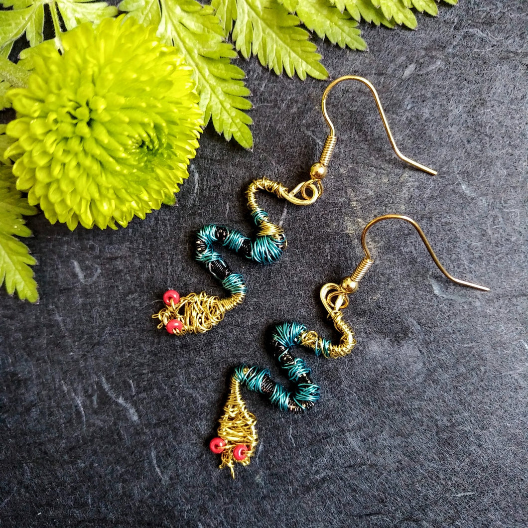 Cleopatra's Serpent earrings