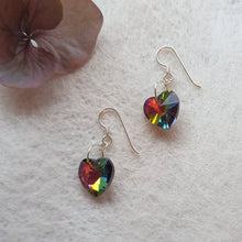 Load image into Gallery viewer, Rainbow Heart earrings