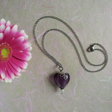 Load image into Gallery viewer, My Violet Heart necklace