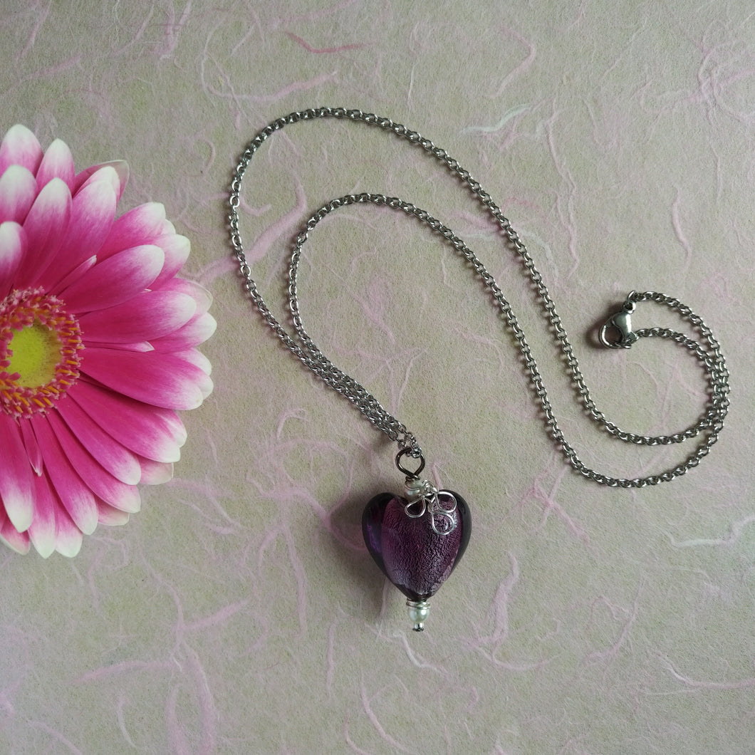 My Violet Heart necklace
