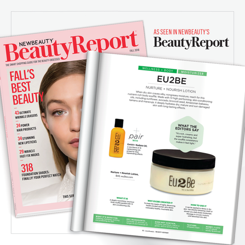 featured skin care in New Beauty magazine