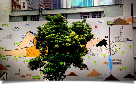 "Hong Kong ""Peace of Mind"" street art image shot by Charla Jones"