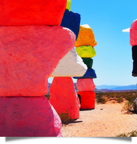 Ugo Rondinone's Seven Magic Mountains art installation in Las Vegas