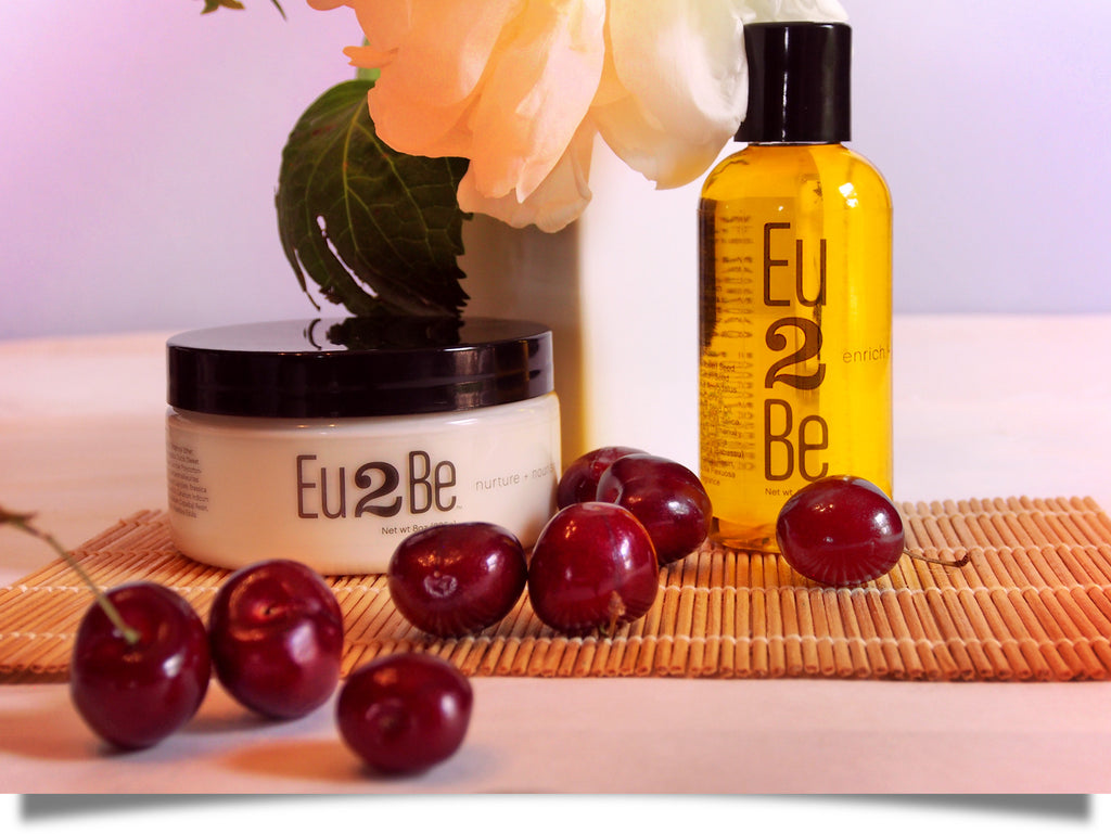natural lotion and body oil cherries of summer