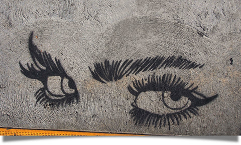 Street art eyes of a woman