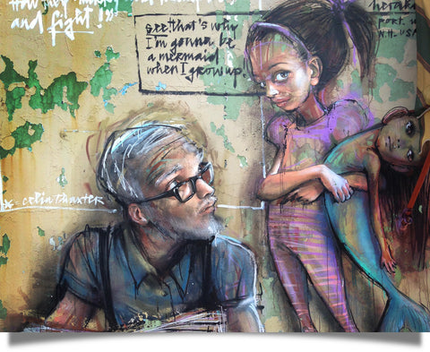 Father's Day street art dreams of our daughters