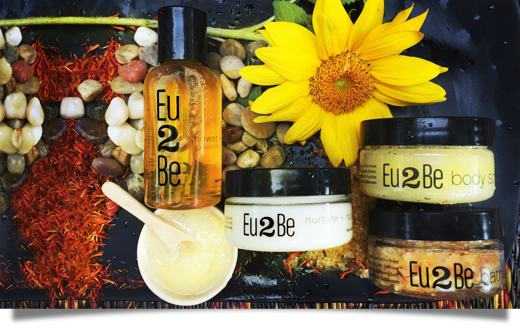 Natural skin care gift with purchase body scrub or bath salts