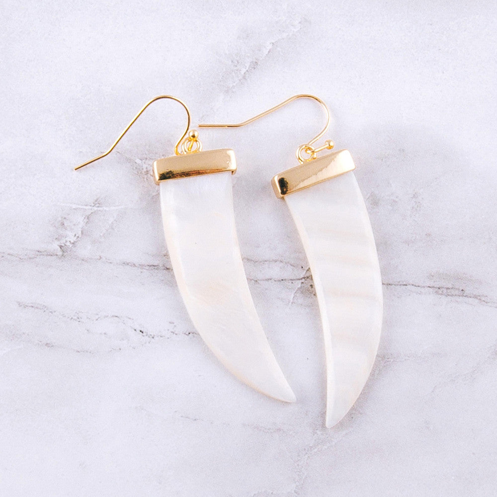 Pearl Tusk Earrings