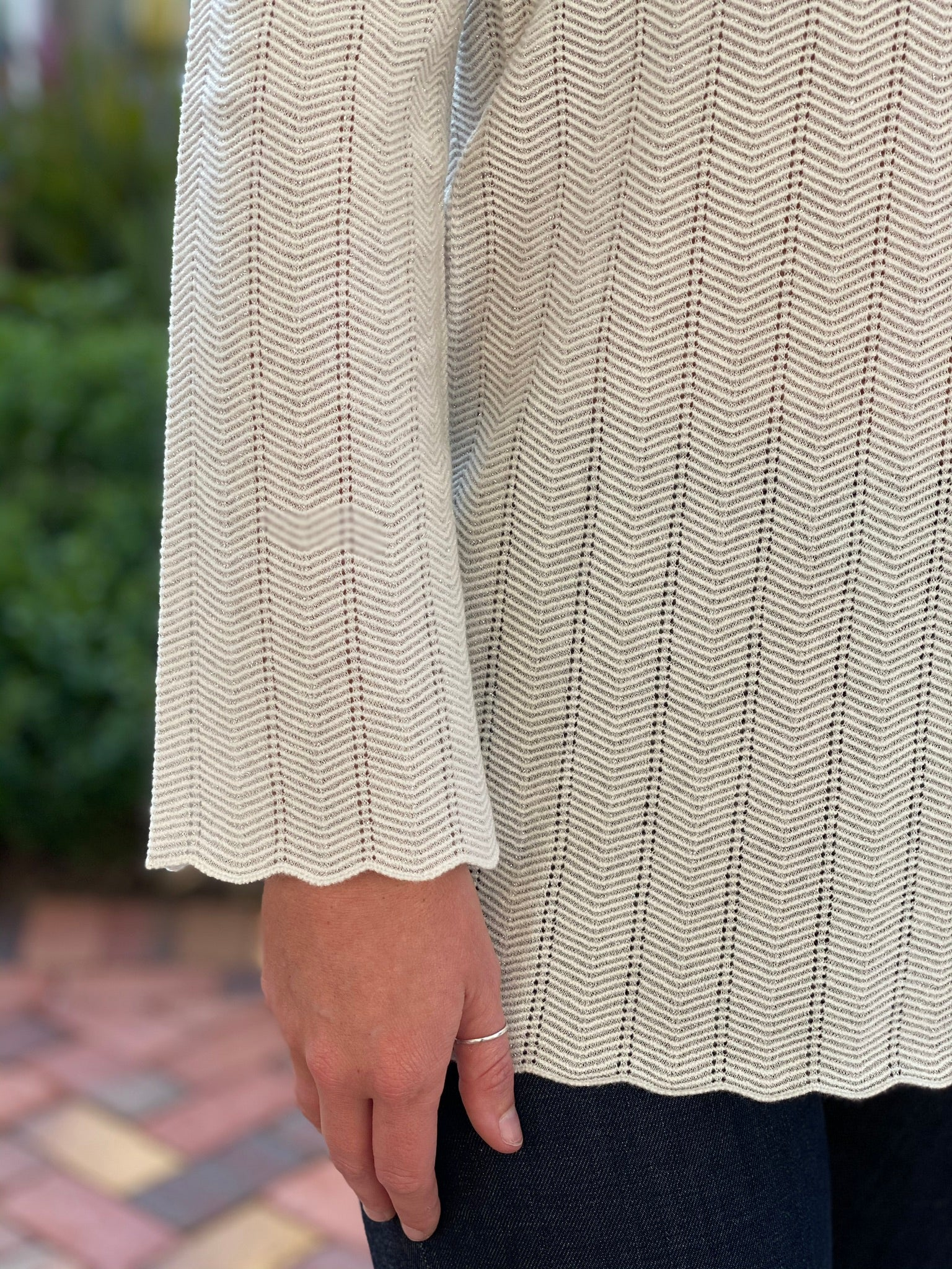 D. Exterior Chevron Sweater