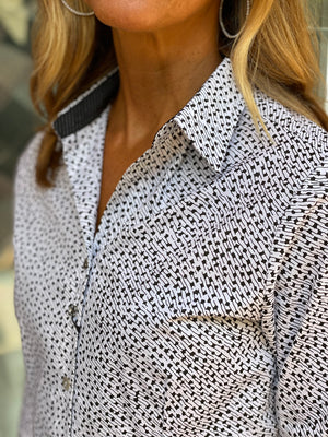 Valentina Tull Hem Tailored Button Down Shirt