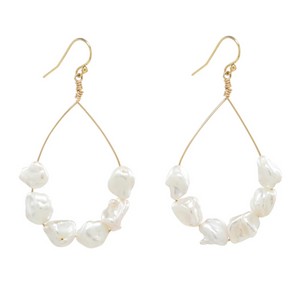 Baja Hoop Earrings With Fresh Water Pearls