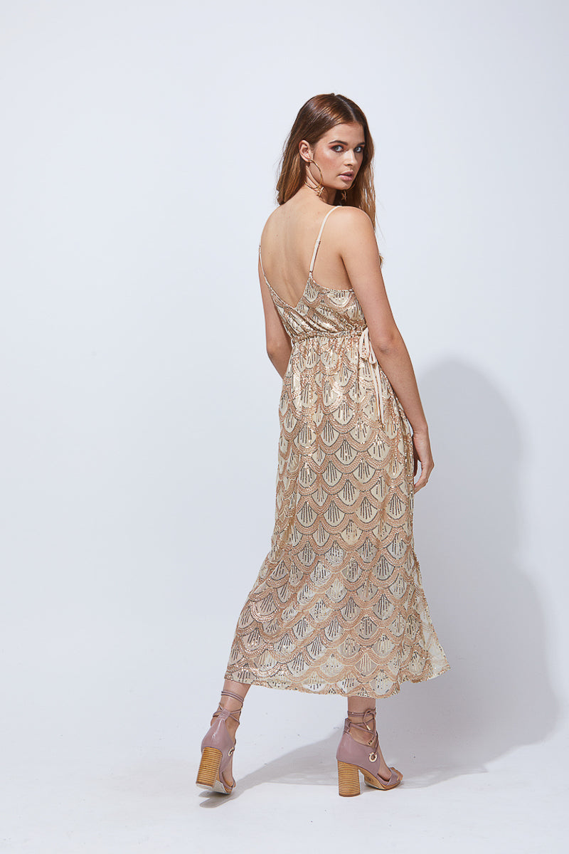 MALAIA DRESS - GOLD