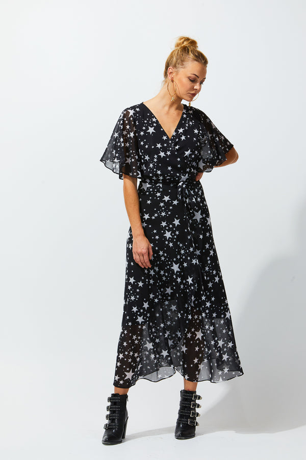 MIA WRAP DRESS - STARS