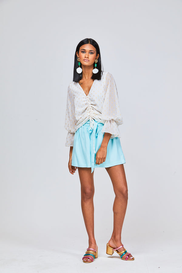 TENLEY SHORTS - PALE BLUE