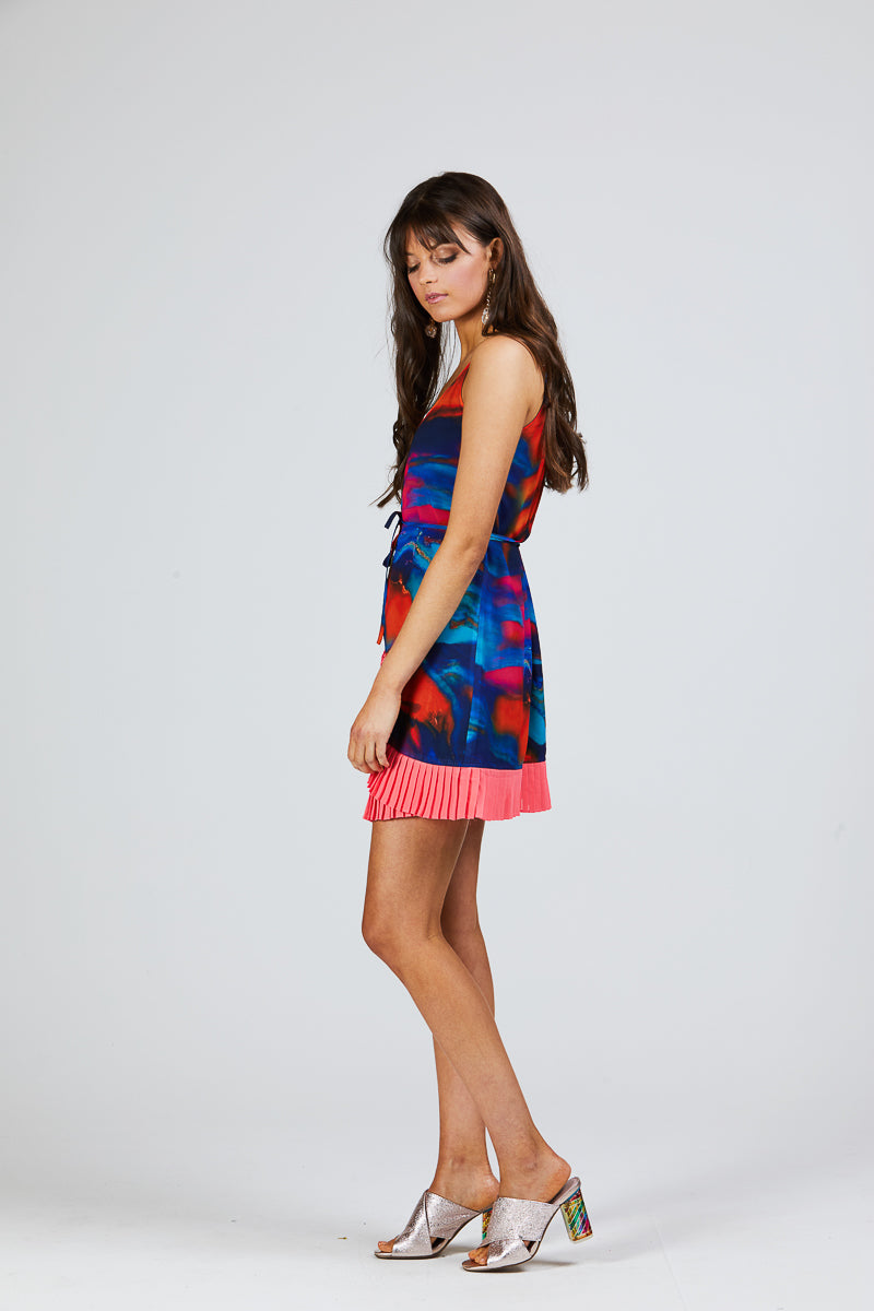 SALLY DRESS - SPILL PRINT