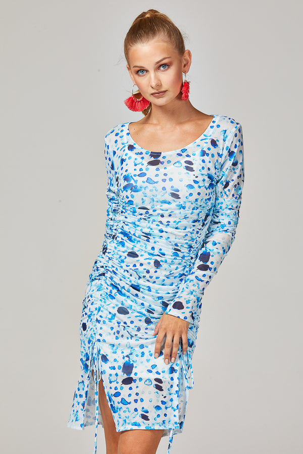 ELLA DRESS - BLUE SPOTS