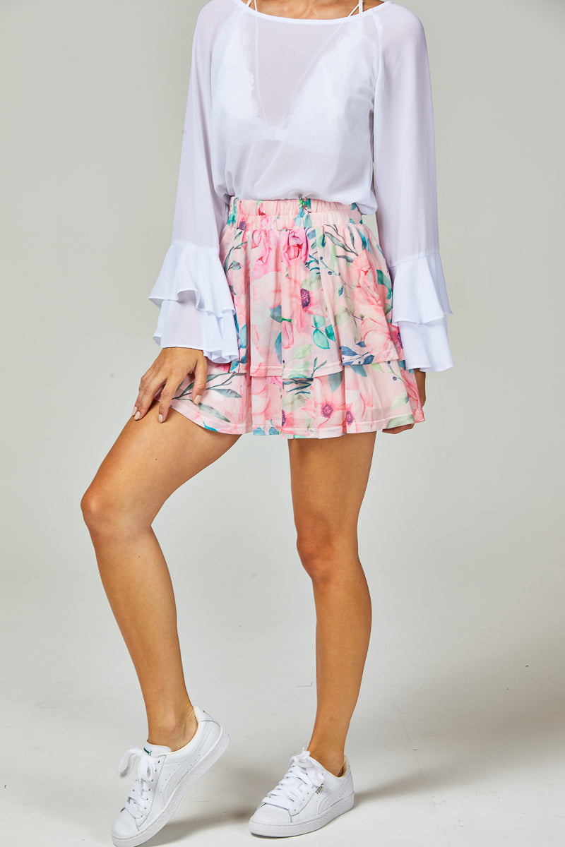 MISSY SKIRT - BLUSH FLORALS