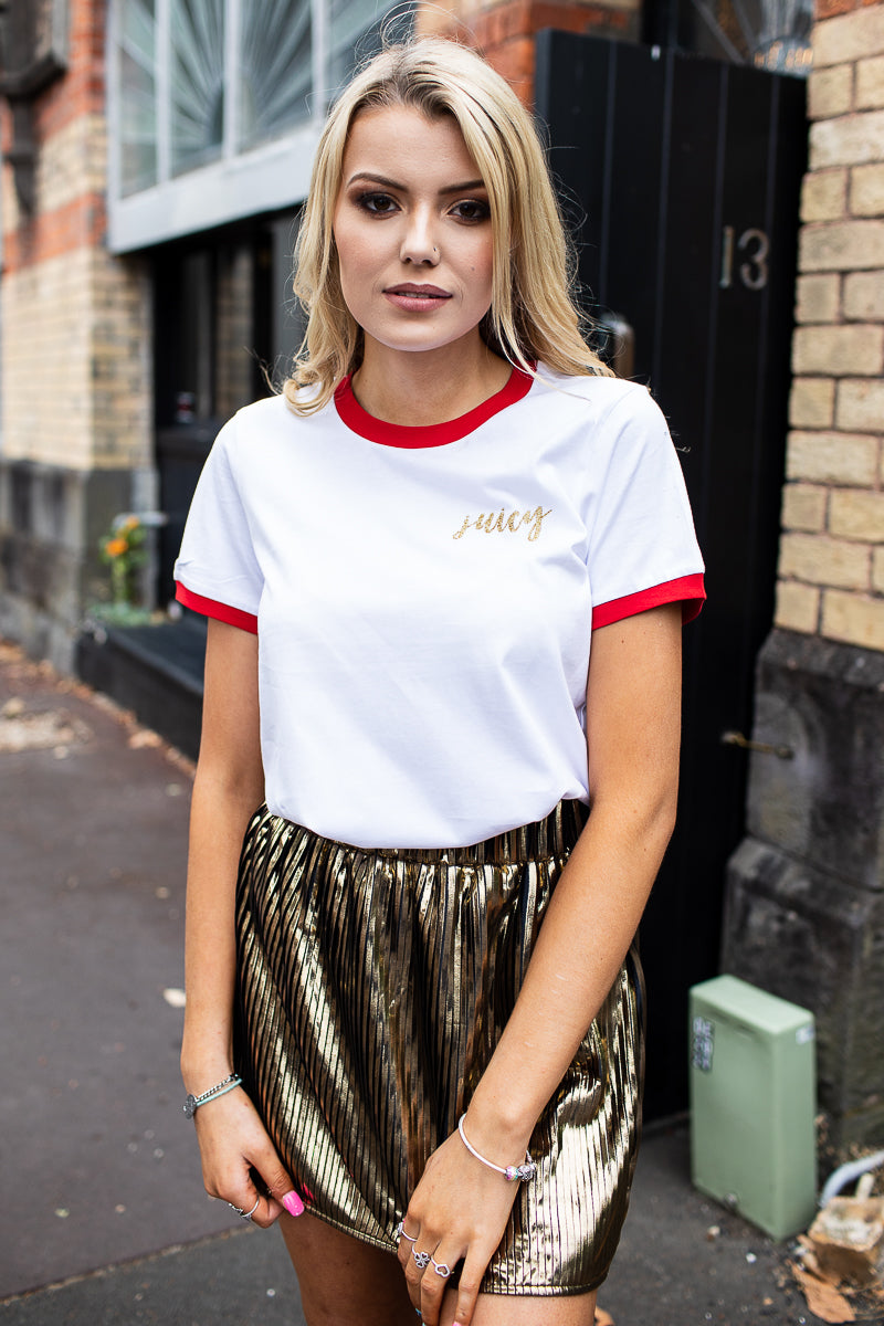 JESS TEE - JUICY GOLD GLITTER