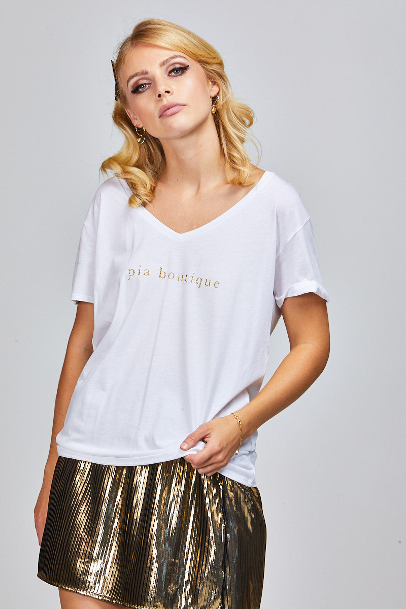ASHER TEE - PIA BOUTIQUE GLITTER