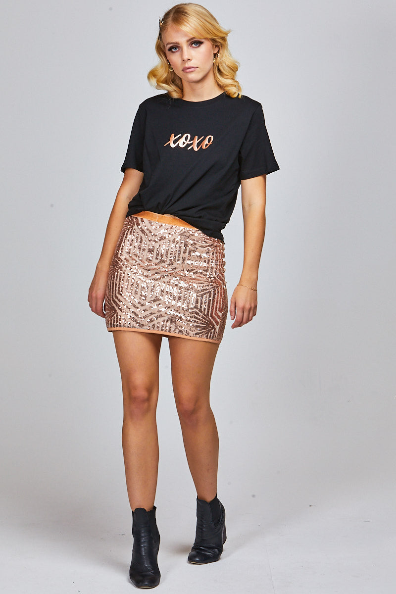 ARLO TEE BLACK - XOXO