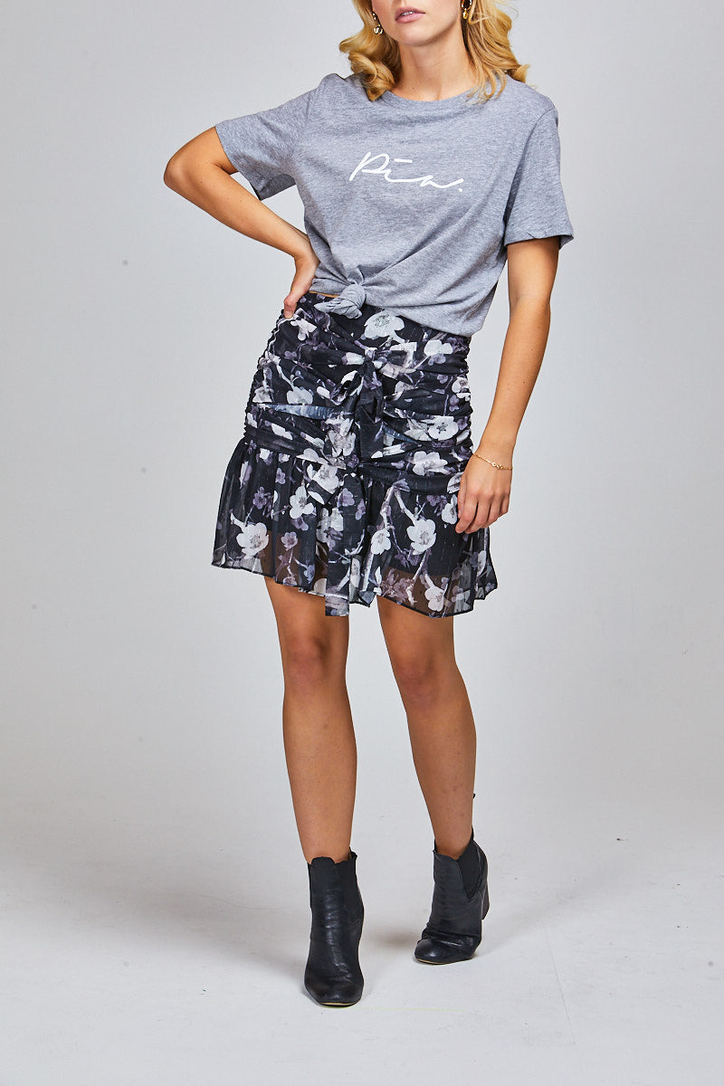 BAILEY SKIRT - BLACK FLORAL
