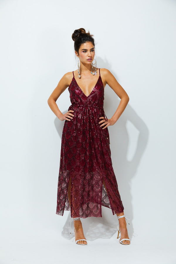 MALAIA DRESS - SANGRIA