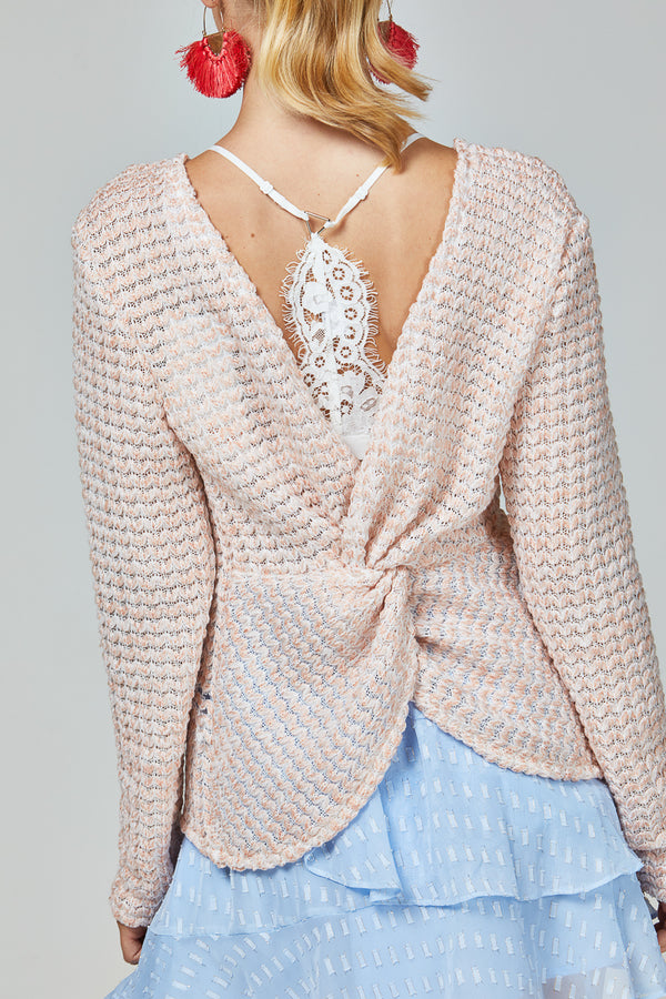 KHLOE JUMPER - BLUSH
