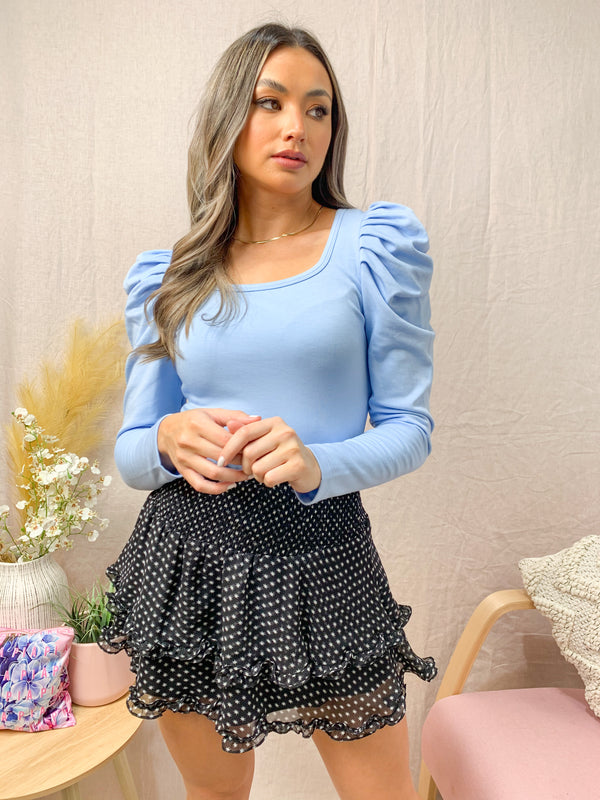 LAYLA TOP - POWDER BLUE