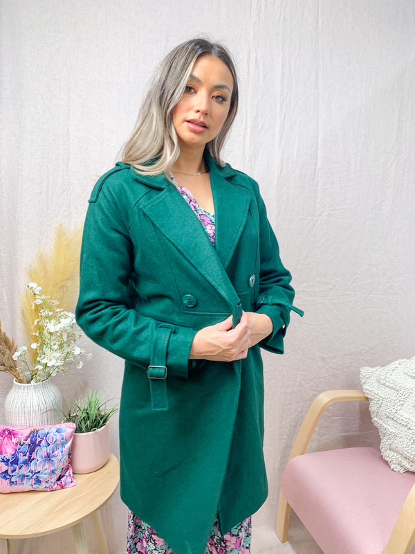 MAEVE COAT - EMERALD
