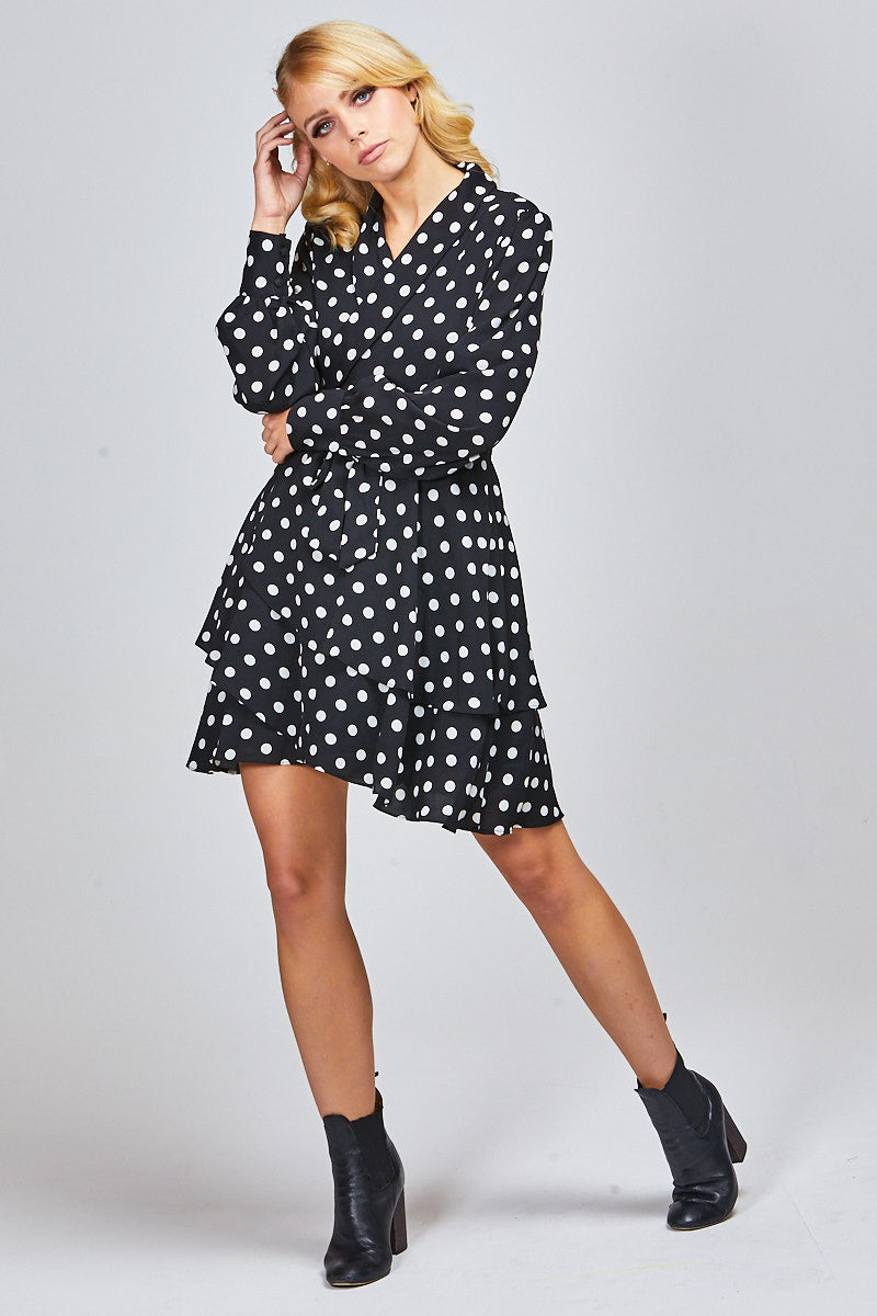 MISTY WRAP DRESS - POLKADOTTS