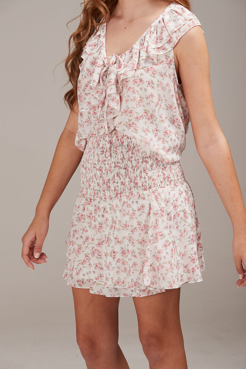 ARIA TOP - PINK DAISY