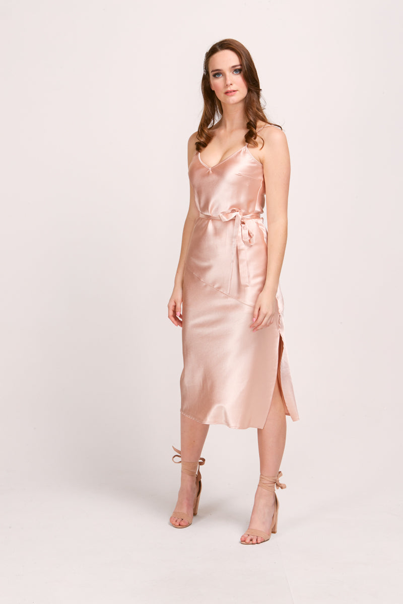 EVERLY SLIP DRESS - CHAMPAGNE