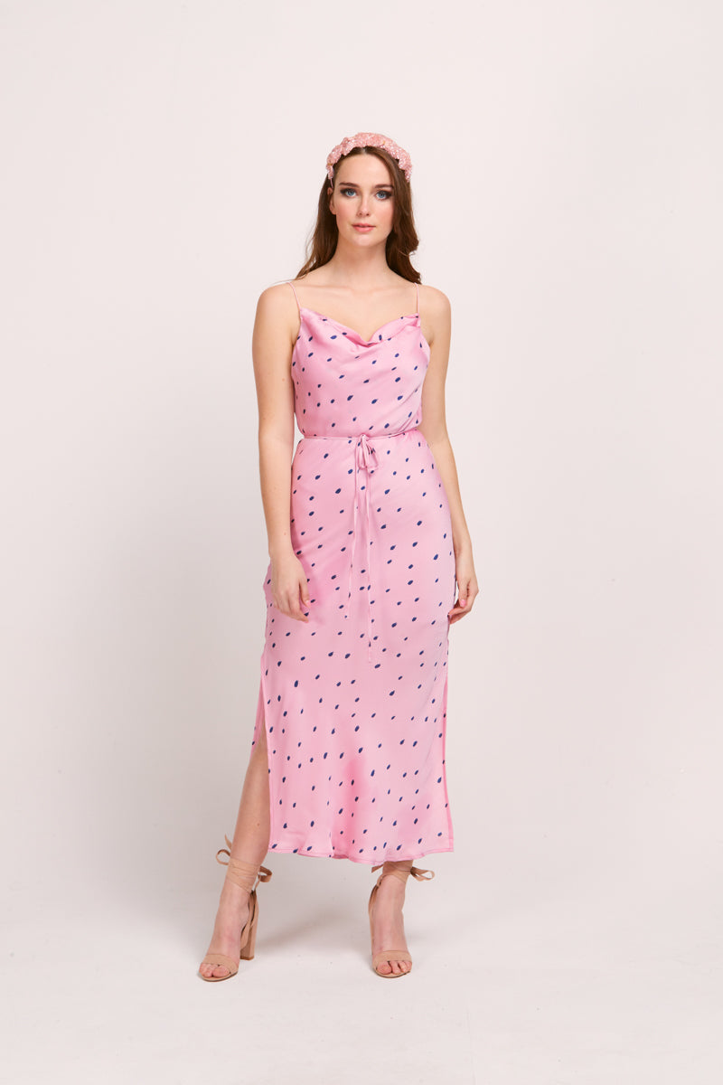 JULIE DRESS - PINK SPOTS