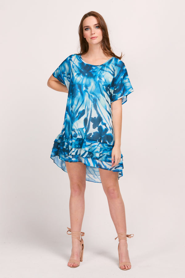 PIA DRESS - TIDE PRINT