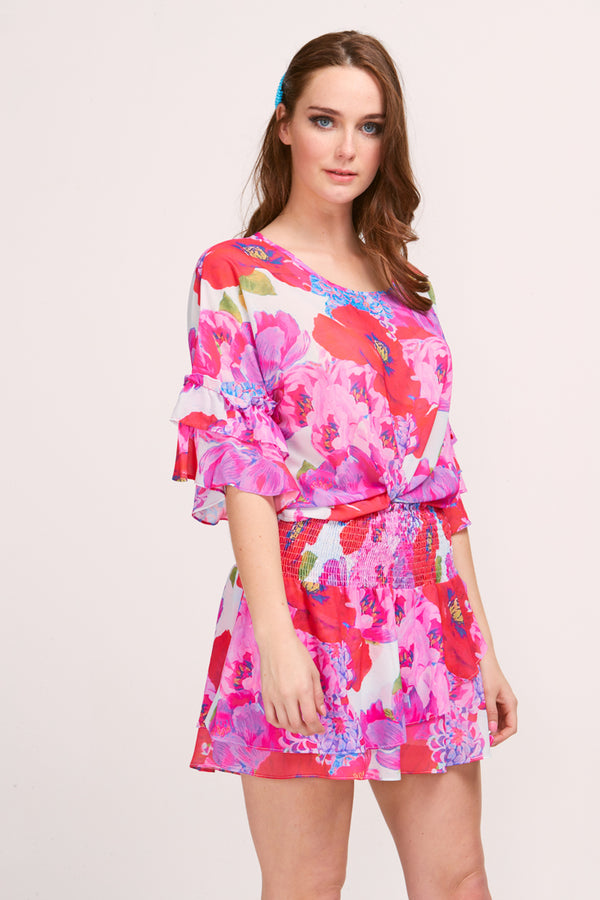 TERESA TOP - BLOOM PRINT