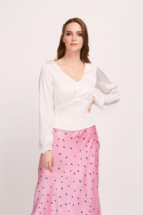 POLLY TOP - WHITE