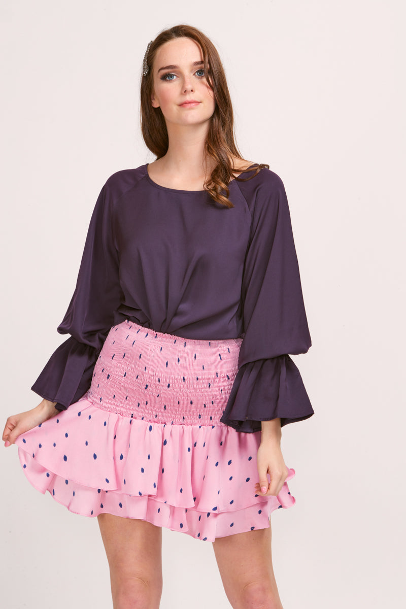 EMMA TOP - PLUM